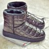 cheap Flat PU Leather Snow Boots