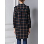 best Belted Long Sleeve Plaid Shirt