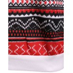 Polka Dot Christmas Snowflake Pullover Hoodie photo