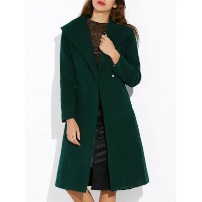 Shawl Collar Double Breasted Coat