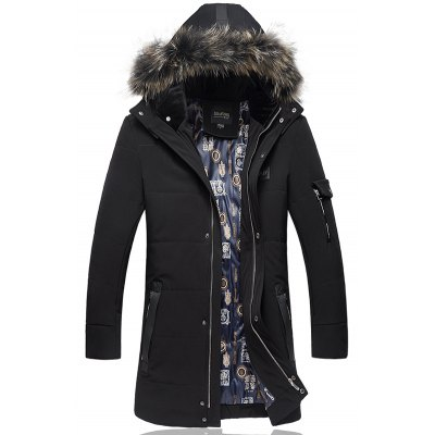 Detachable Furry Hood Plus Size Lengthen Down Coat