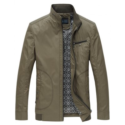 Pocket Zip Up Y Graphic Jacket