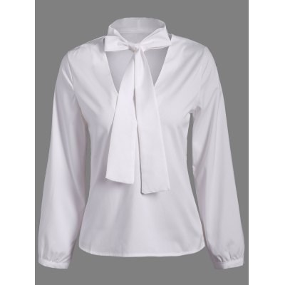 Pussy Bow Long Sleeves Blouse