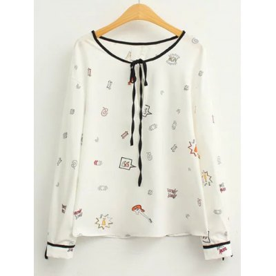 Cartoon Print Blouse