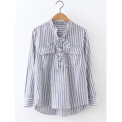 High Low Striped Shirt