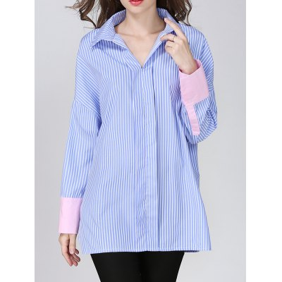 Pullover Striped BF Shirt