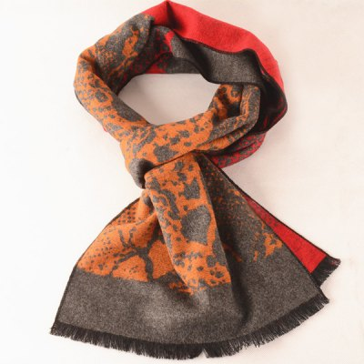 Winter Abstract Pattern Warm Scarf