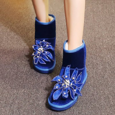 beading-flower-ankle-snow-boots