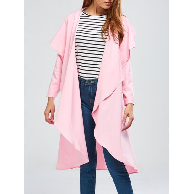 Asymmetric Drape Duster Coat