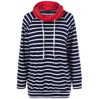 Elbow Patch Striped Sweatshirt