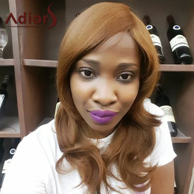 Adiors Long Side Bang Slightly Curled Synthetic Wig