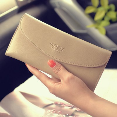 Letter Embossed WalletWomens Wallets<br>Letter Embossed Wallet<br><br>Wallets Type: Clutch Wallets<br>Gender: For Women<br>Style: Casual<br>Closure Type: Snap Closure<br>Pattern Type: Solid<br>Main Material: PU<br>Length: 19CM<br>Width: 2CM<br>Height: 9CM<br>Weight: 0.130kg<br>Package Contents: 1 x Wallet