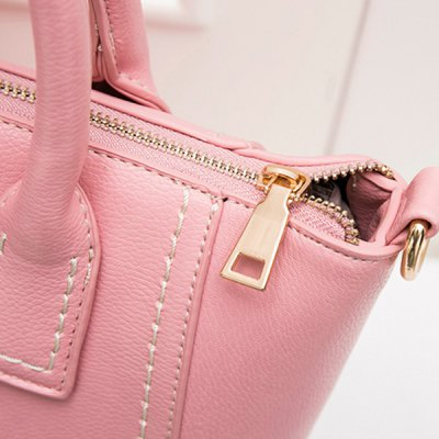 Stitching Pendant PU Leather ToteWomens Bags<br>Stitching Pendant PU Leather Tote<br><br>Handbag Type: Totes<br>Style: Fashion<br>Gender: For Women<br>Pattern Type: Solid<br>Handbag Size: Small(20-30cm)<br>Closure Type: Zipper<br>Occasion: Versatile<br>Main Material: PU<br>Weight: 0.670kg<br>Size(CM)(L*W*H): 26*14*23<br>Package Contents: 1 x Tote