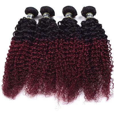 1 Pcs 6A Virgin Kinky Curly Ombre Color Brazilian Hair Weave