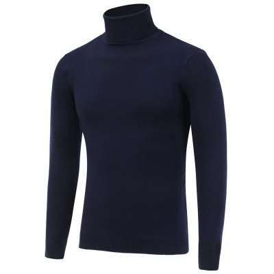 Stretchy Roll Neck Pullover Knitwear