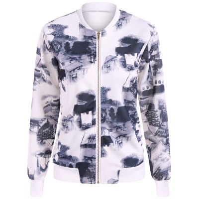 Chinese Painting Zip Up Jacket