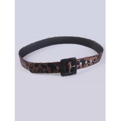 Coat Wear Cheetah Print Pin Buckle Belt