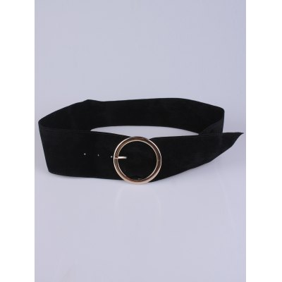 Coat Wear Hollow Ring Velvet Belt