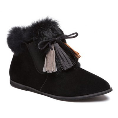 Tassels Suede Boots
