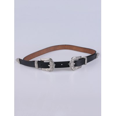 Embellished Double Pin Buckle Belt