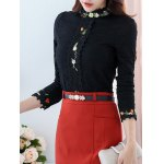 Floral Crochet Trim Lace Top deal