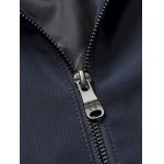 Stand Collar Side Pocket Zip Up Padded Jacket for sale