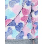 Heart Pattern Fleece Hoodie photo