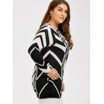 Plus Size Zigzag Pullover Sweater deal
