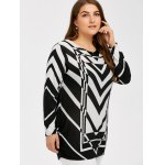 cheap Plus Size Zigzag Pullover Sweater