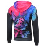 cheap Statue of Liberty Printed Pullover Funny Hoodie