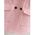 Long Double Breasted Wool Coat for sale