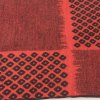 Warm Hollow Square Pattern Fringe Scarf photo