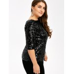 Plus Size Short Sleeve Sequined T-Shirt deal