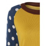 Polka Dot and Striped Sleeve Sweater deal