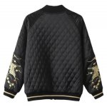 cheap Slim Crane Embroidered Argyle Bomber Jacket