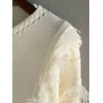 V Neck High Low Fringed Pullover Sweater deal