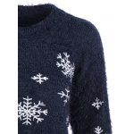 Christmas Snowflake Fuzzy Mohair Sweater deal