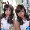 Adiors Long Side Bang Wavy Mixed Color Synthetic Wig