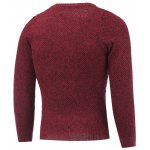 cheap Crew Neck Heather Tweed Pullover Sweater