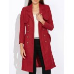 Wool Blend Trench Coatwith Belt