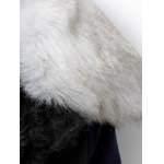 Take Off Faux Fur Collar Quilted Coat deal