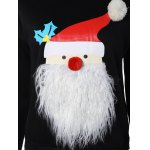 Christmas Santa Graphic Pompon Embellished Sweatshirt deal