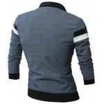 cheap Double Sided Wear Paneled Faux Leather Zip Up Jacket