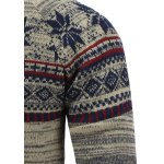 Crew Neck Christmas Snowflake Jacquard Sweater for sale