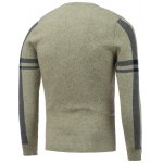 cheap Crew Neck Letter Jacquard Pullover Knitwear