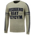 Crew Neck Letter Jacquard Pullover Knitwear