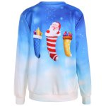 cheap Ombre Color Socks Christmas Sweatshirt
