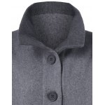 Button Up A-Line Woolen Coat deal