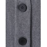 Button Up A-Line Woolen Coat for sale