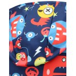 Cartoon Print Pocket Front Pullover Hoodie for sale